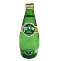 Вода минеральная 'Perrier' (Перье) газированная 0,33л стеклянная бутылка