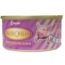 Свинина тушеная 'Микоян' высший сорт 325г ж/б (тушенка)