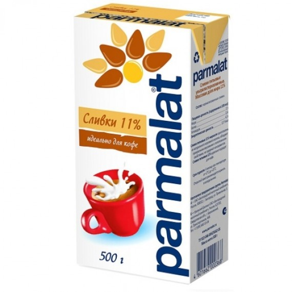 Сливки 'Parmalat' (Пармалат) 11% 500мл
