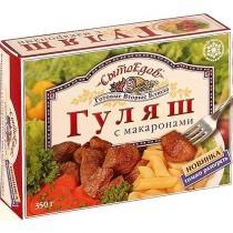 Гуляш с макаронами 'СытоЕдов' 350г замороженное блюдо