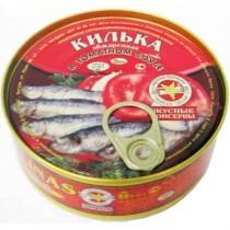 Килька в томатном соусе 'Unda' (Унда) 240г ж/б Россия