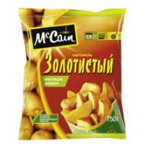 Картофель 'McCain' (Мак Каин) дольки золотистые хрустящие 750г замороженный