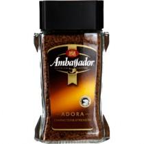 Кофе 'Ambassador' (Амбассадор) Adora растворимый сублимированный 95г ст.банка