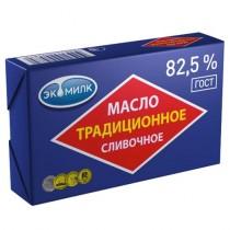 Масло сладко-сливочное 'Экомилк' традиционное 82,5% 180г