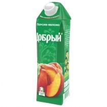 Нектар 'Добрый' персик яблоко 1,0л тетра пак