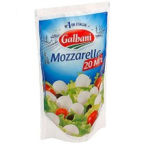 Сыр Моцарелла 'Galbani' (Гальбани) 20 мини 38% 150г поли-пак