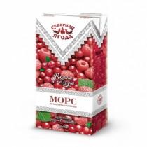 Морс 'Северная ягода' малина и клюква 0,95л для детского питания тетра пак