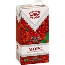 Морс 'Северная ягода' земляника и брусника 0,95л для детского питания тетра пак