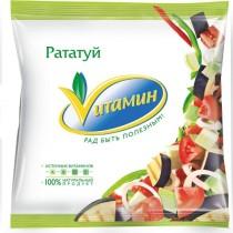 Рататуй 'Vитамин' (кабачки, баклажаны, сладкий перц, репчатый лук, томат) 400г замороженная