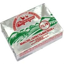 Масло сладко-сливочное 'Свитлогорье' крестьянское 72,5% 180г Белорусь