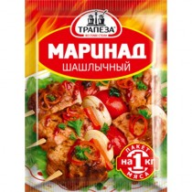 Маринад 'Трапеза' шашлычный 30г пакет (на 1кг мяса)