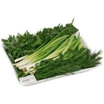 Зелень свежая Ассорти (лук, петрушка, укроп) 70г подложка ИП Козырев
