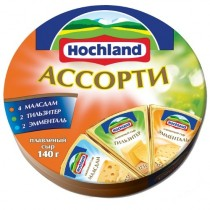 Сыр плавленый 'Hochland' (Хохланд) Ассорти сырное 140г порционный