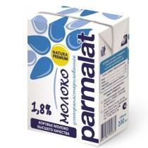 Молоко 'Parmalat' (Пармалат) 1,8% ультрапастеризованное 0,2л пакет
