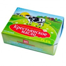 Масло сладко-сливочное 'Крестьянское' 72,5% 200г фольга Мытищинский М3