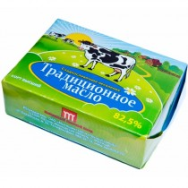 Масло сладко-сливочное Традиционное несоленое 82,5% 200г Мытищинский М3