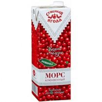 Морс 'Северная ягода' клюква 1,45л для детского питания тетра пак