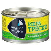 Икра трески 'Русское Море' классическая деликатесная 130г ж/б