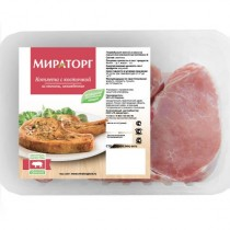 Котлета из свинины с косточкой 'Мираторг' охлажденная 500г Белгород