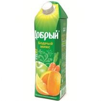 Нектар 'Добрый' Бодрый микс апельсин яблоко персик морковь 1,0л