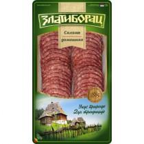 Колбаса 'Салями Домашняя' сырокопченая 100г нарезка Златиборац Сербия
