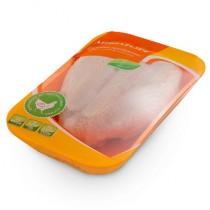 Грудка цыпленка-бройлера с кожей охлажденная 1кг Мираторг
