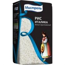 Крупа Рис 'Мистраль' Италика белый круглозернистый 1кг Россия
