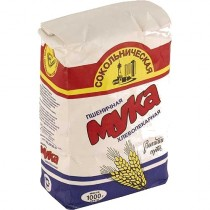 Мука пшеничная 'Сокольническая' высший сорт 1кг Россия