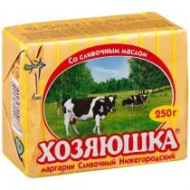 Маргарин 'Хозяюшка' сливочный нижегородский 60% 250г фольга