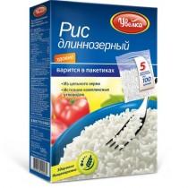 Крупа Рис 'Увелка' длиннозерный порционный 5пакХ100г Россия