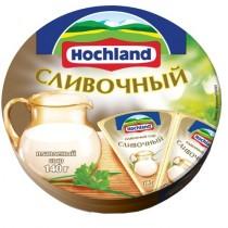 Сыр плавленый 'Hochland' (Хохланд) ветчина 140г порционный