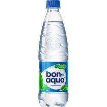 Вода питьевая 'Bon Aqua' (Бон Аква) газированная 0,5л пл.бутылка