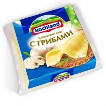 Сыр плавленый 'Hochland' (Хохланд) с грибами 55% 150г 8-ломтиков